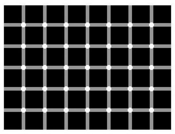 נסו לספור את הנקודות השחורות